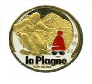 Magnet frigo photo personnalisé La Plagne Ski
