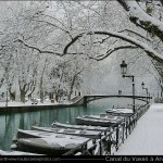 Canal du Vassé et le pont des amours (Annecy)
