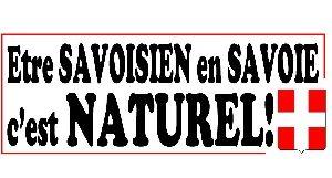Autocollant Être Savoisien en Savoie, C'EST NATUREL