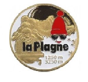 Magnet frigo photo personnalisé la Plagne Bobsleigh