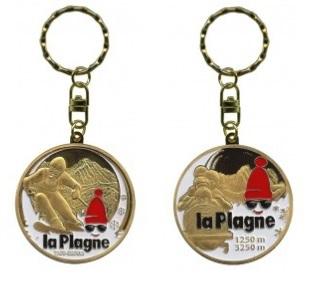 Porte-clés personnalisé la Plagne ski bobsleigh