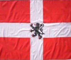 Bannière Savoie ducale 120 X 120 cm pour hampe