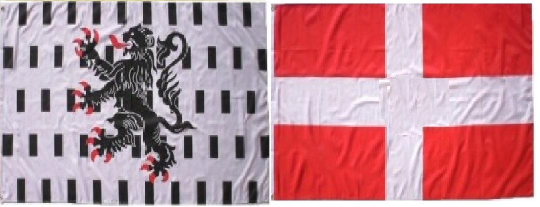 Lot bannière Savoie et Chablais de 120 X 120 cm