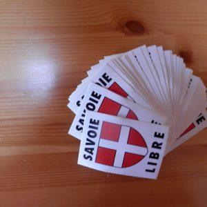 50 Autocollants Savoie libre
