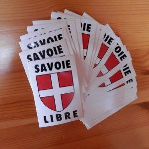 20 Autocollants Savoie libre