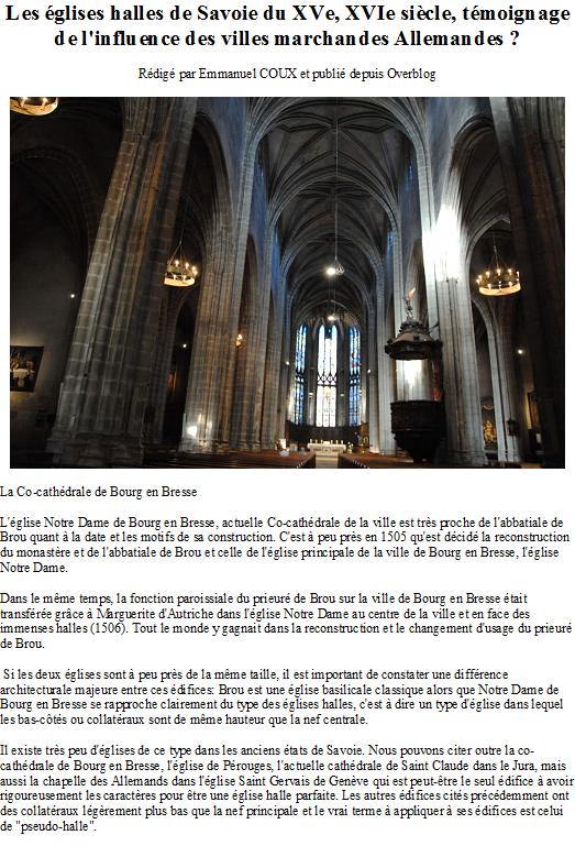 Les églises halles de Savoie du XVe, XVIe siècle, témoignage de l'influence des villes marchandes Allemandes