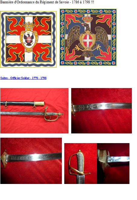 Uniforme des régiments de Savoie