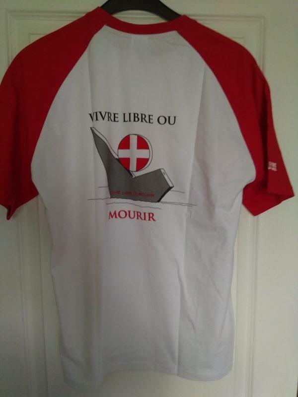 T-shirt vivre libre ou mourir