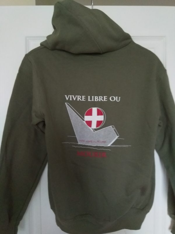Sweat-shirt vivre libre ou mourir
