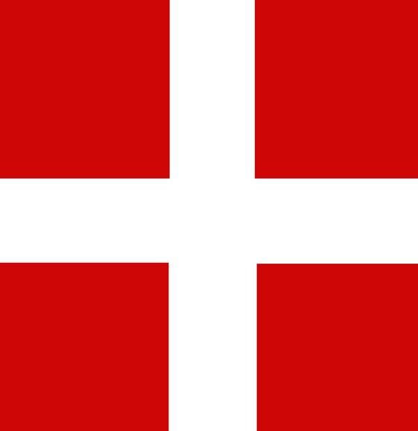 Bannière ou Drapeau carré de Savoie de 50 X 50 cm